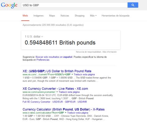 google currency exchange