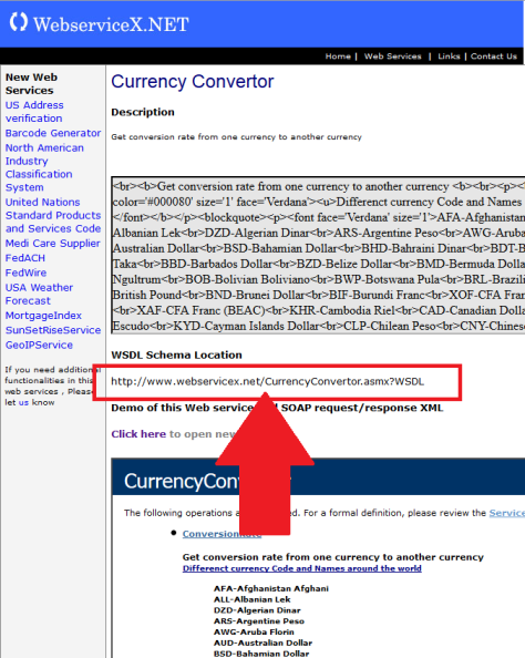 webservicex currency
